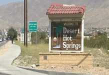 Desert Hot Springs sign