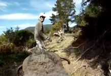 A ram has a Go Pro strapped to its head