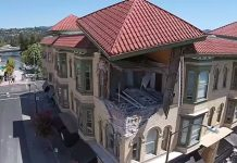 Napa Earthquake drone