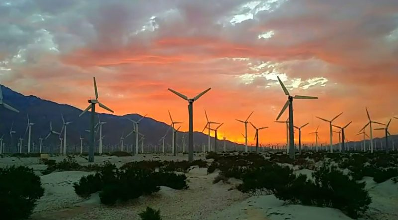 Palm Springs Windmills Time-Lapse Video