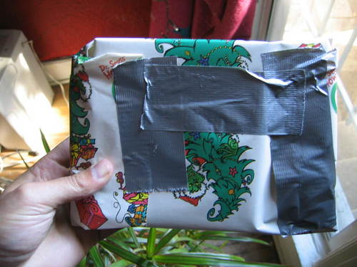 badly wrapped present