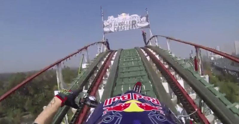 motorcycle on roller coaster