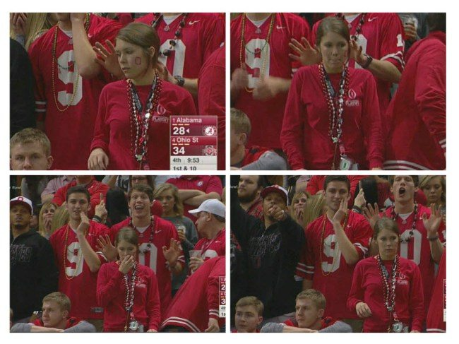 Did These Ohio State Fans Get Busted Cheating on Live TV