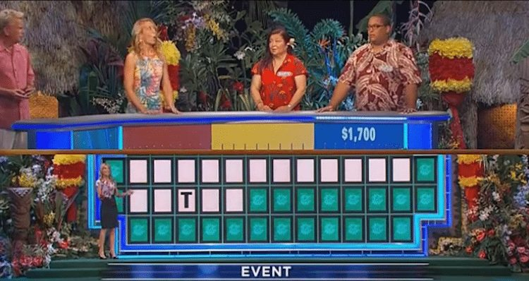 Rufus solves Wheel of Fortune puzzle with just one letter