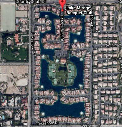 Lake Mirage Racquet Club  aerial view