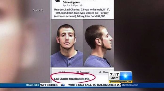dude arrested after liking his photo