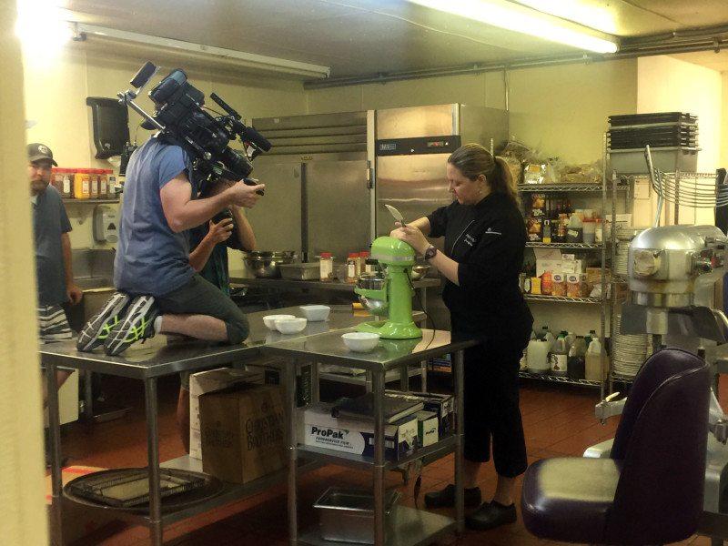 Food Network filming at The Purple Room (Image: Purple Room)