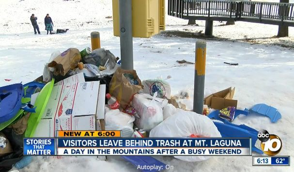 Snow trash