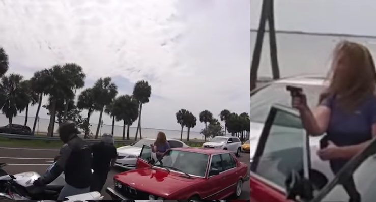 Woman pulls gun road rage