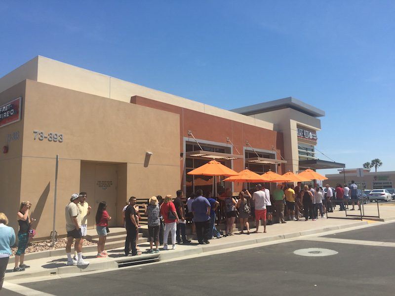 Blaze Pizza in Palm Desert on Free Pizza Day