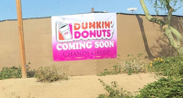 Dunkin' Donuts Indio, California location coming soon