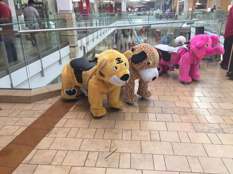 Going to the mall soon? Be sure to watch out for stuffed animals looking to run you over.