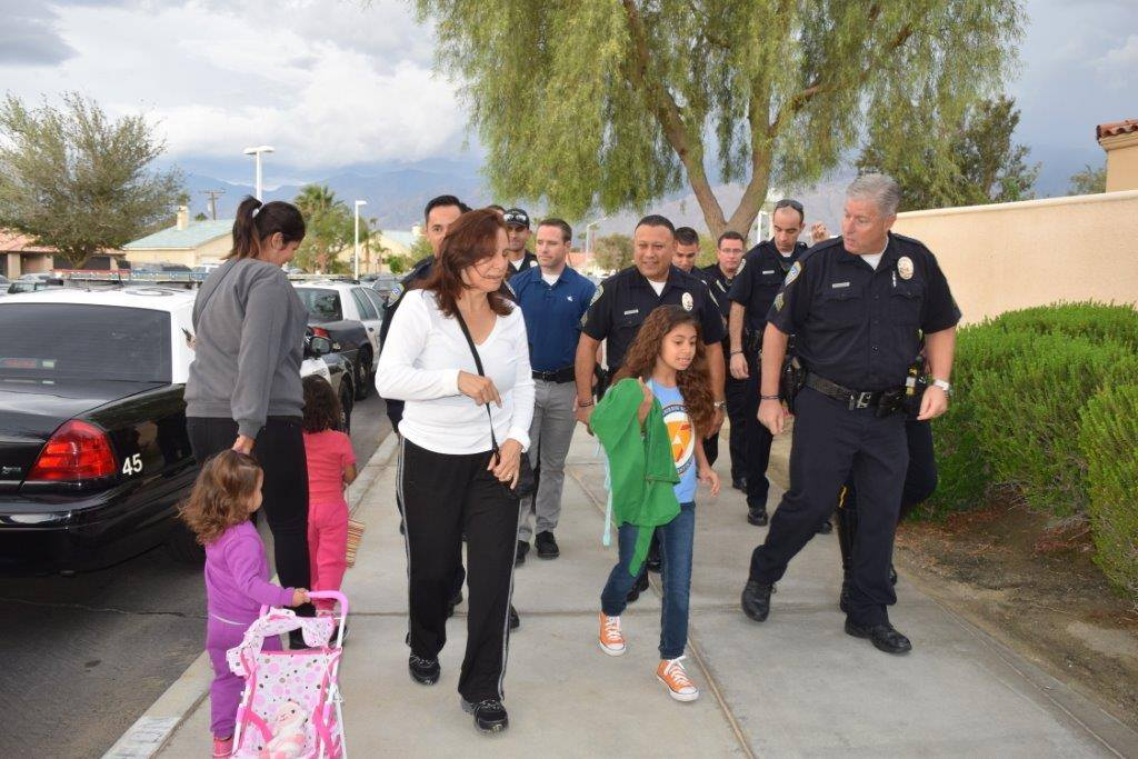 Palm Springs Police Escort Daughter Of Fallen Officer On Her St - Palm springs escort reviews
