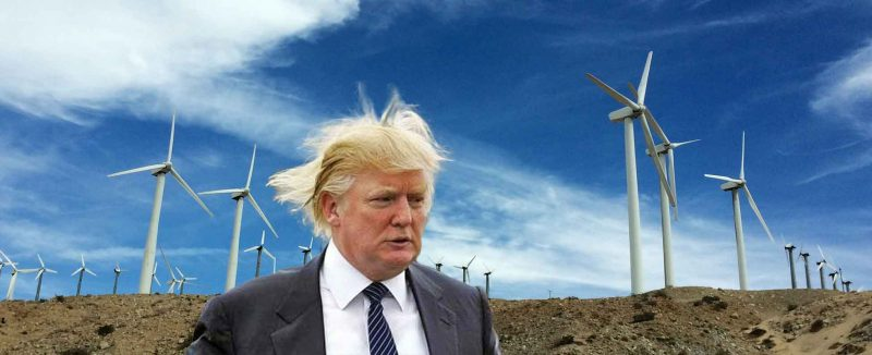 Donald Trump believes that when it's not windy, those near windmill farms can't watch TV