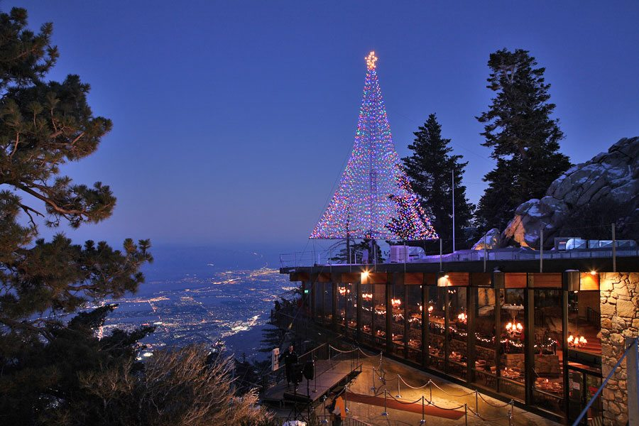 Christmas time at the Palm Springs Aerial Tramway