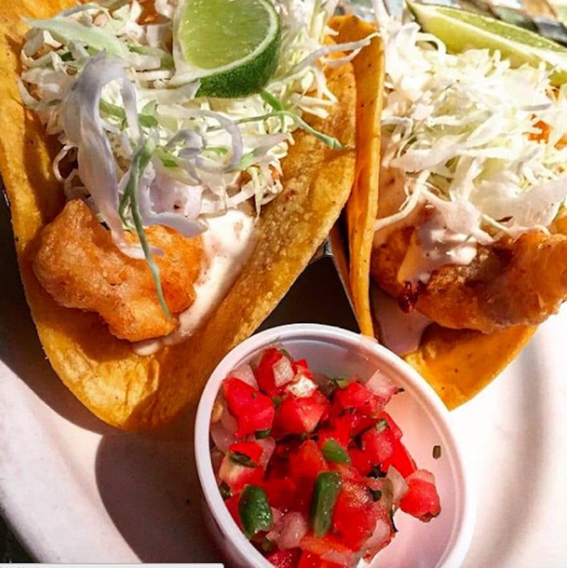 The Fish Taco's at Fisherman's Market and Grill