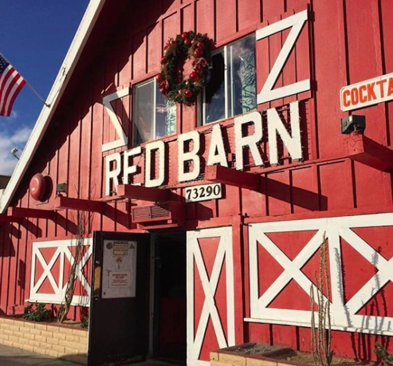 The entrance to the Red Barn in Palm Desert