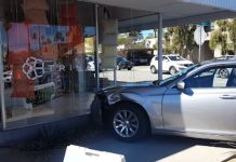 A car crashed into the Trina Turk store in downtown Palm Spirings