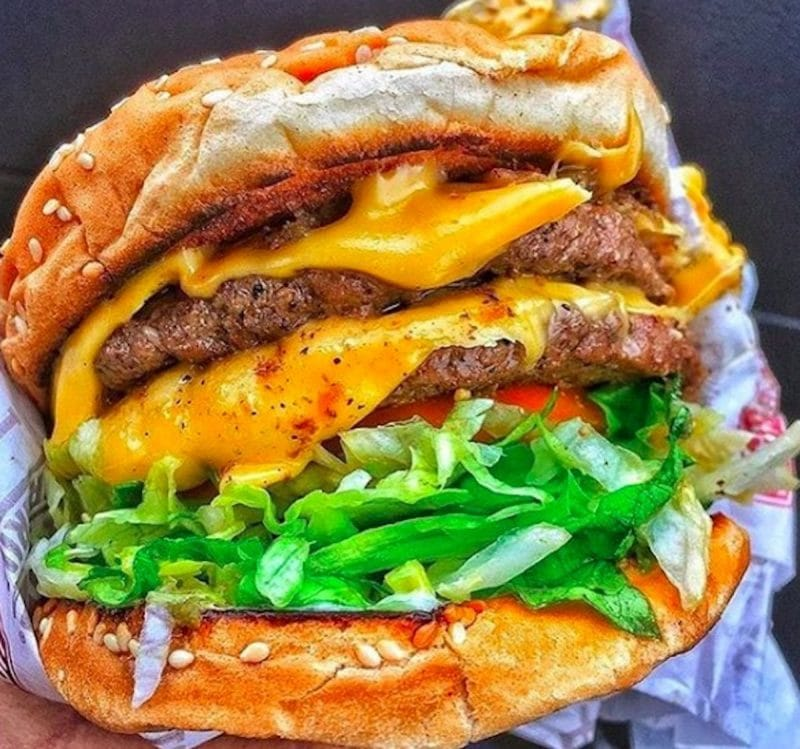 A double cheeseburger from Habit Burger