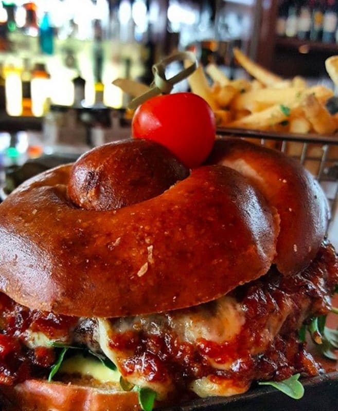 A Hamburger from State Fare at the Ritz Carlton in Rancho Mirage