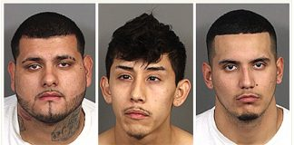 Three suspects from a Palm Desert shooting: Roger Rodriguez, 20 years old, from La Quinta, Anthony Garcia, 20 years old, from Indio, and Alejandro Zendejas 23 years old, from Indio.
