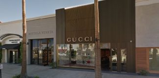 The Gucci store on El Paseo in Palm Desert