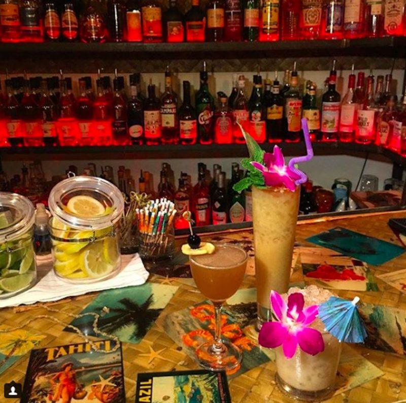 The bar at Bootlegger Tiki in Palm Springs