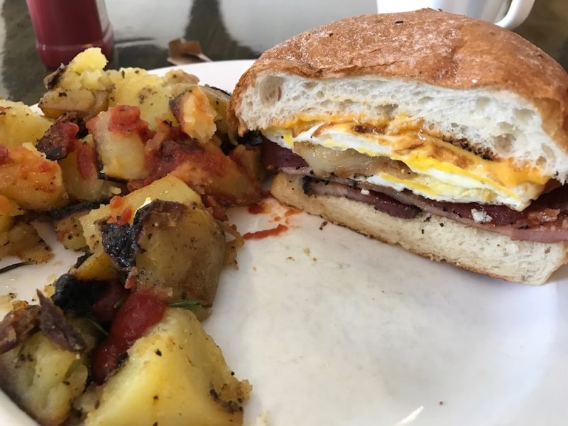 Five Spot breakfast sandwich from Matt's Big Breakfast in Phoenix, Arizona