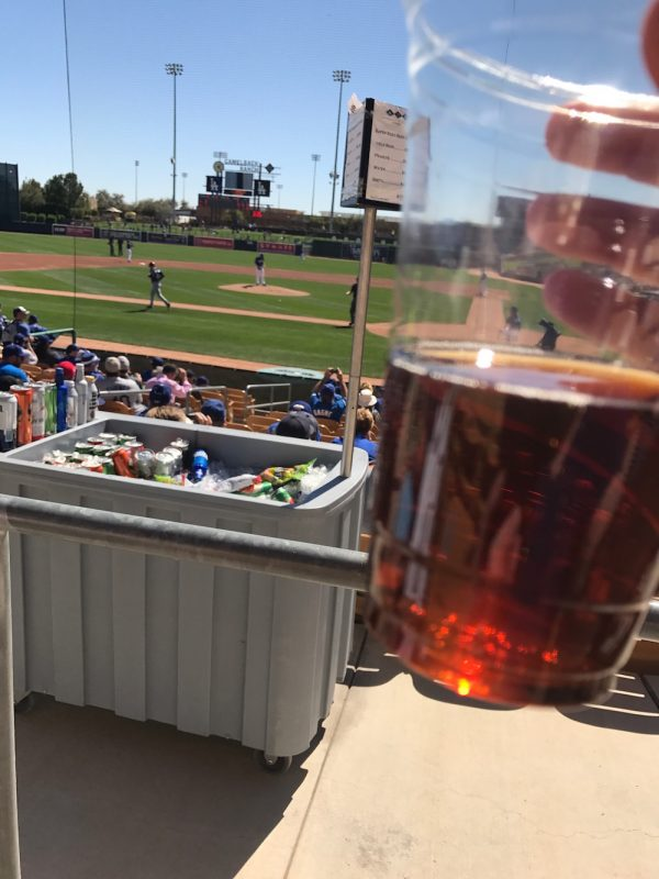 Enjoy a nice cold beer during the games at Camelback Ranch in Arizona during Dodgers Spring Training