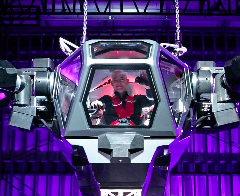 Amazon S Jeff Bezos Was In Palm Springs Piloting A Gigantic Robot
