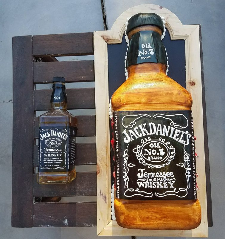 Jack Daniels Cake given to Guy Fieri
