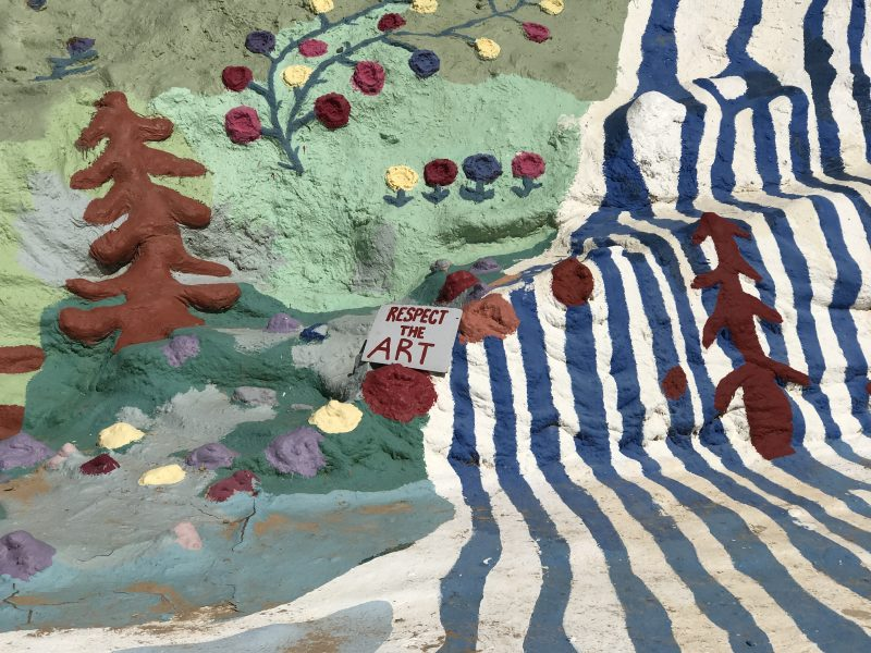 Salvation Mountain has so much paint