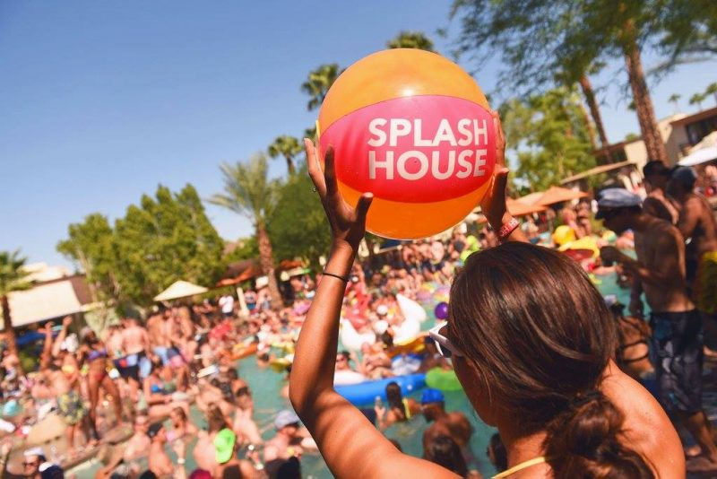 The Splash House Pool Party fills the pool with hundreds of festival goers every June and August in Palm Springs