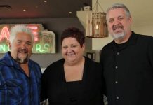 The owners of Wilma and Frieda's with Guy Fieri