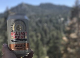 A beer that I brought from home at the top of the Palm Springs Aerial Tramway