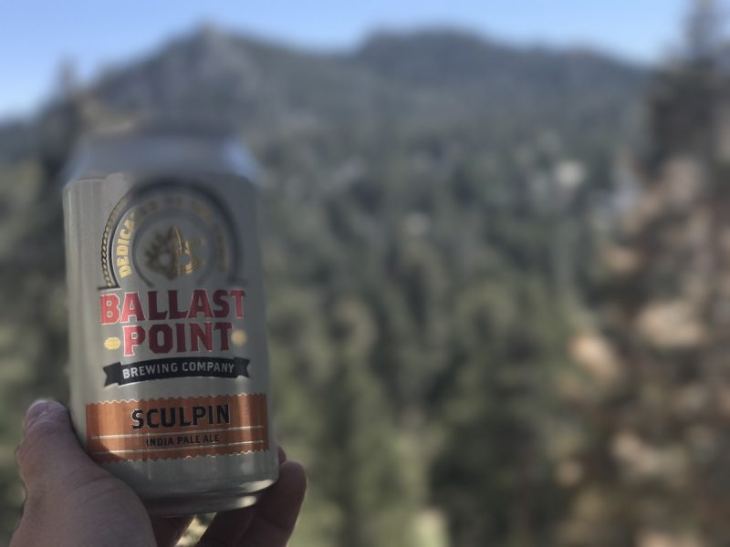 Enjoying a beer at the top of the Palm Springs Aerial Tramway