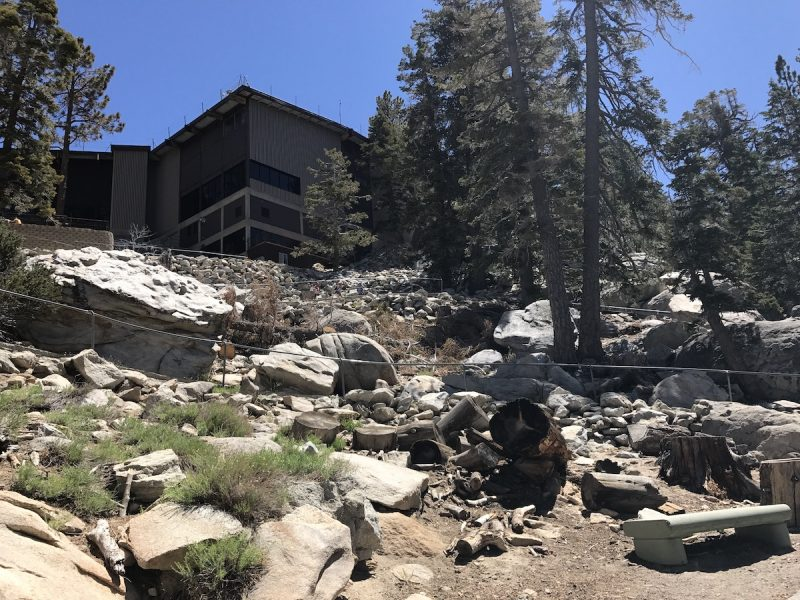 The ramp that leads up and down from the Mountain Station to the hiking trails at the Palm Springs Aerial Tramway