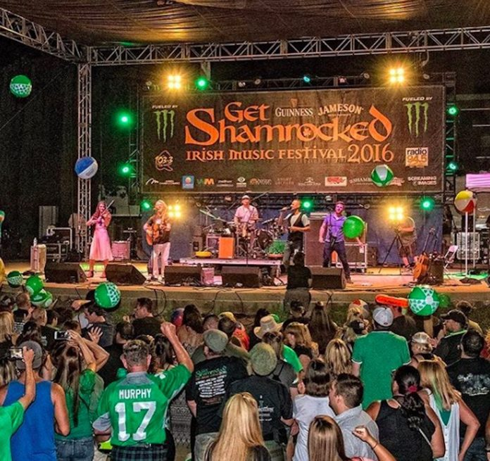 The Get Shamrocked Festival stage and crowd
