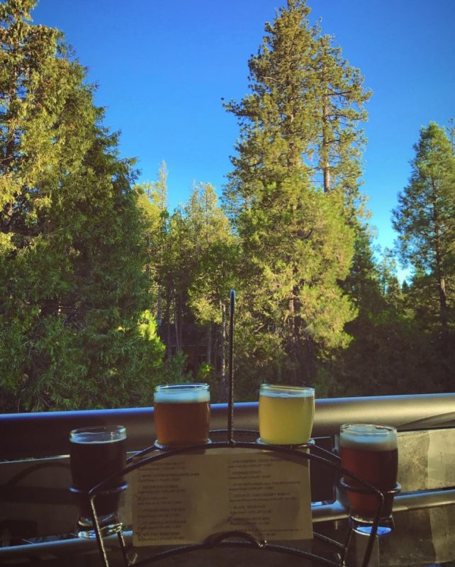 A beer flight of IPAs, stouts, barley wines, and more and Idyllwild Brewpub