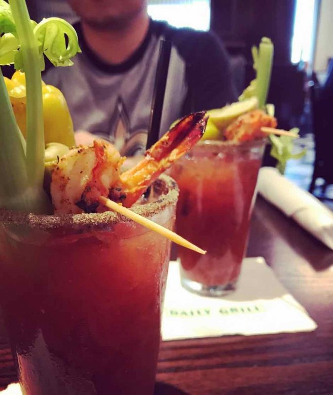 A Bloody Mary served at the Daily Grill on El Paseo in Palm Desert