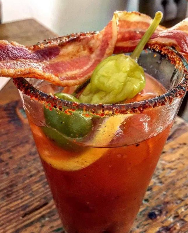 A Bloody Mary from FARM restaurant in Palm Springs