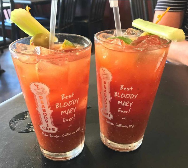 A Bloody Mary at Peabody's Cafe in Palm Springs