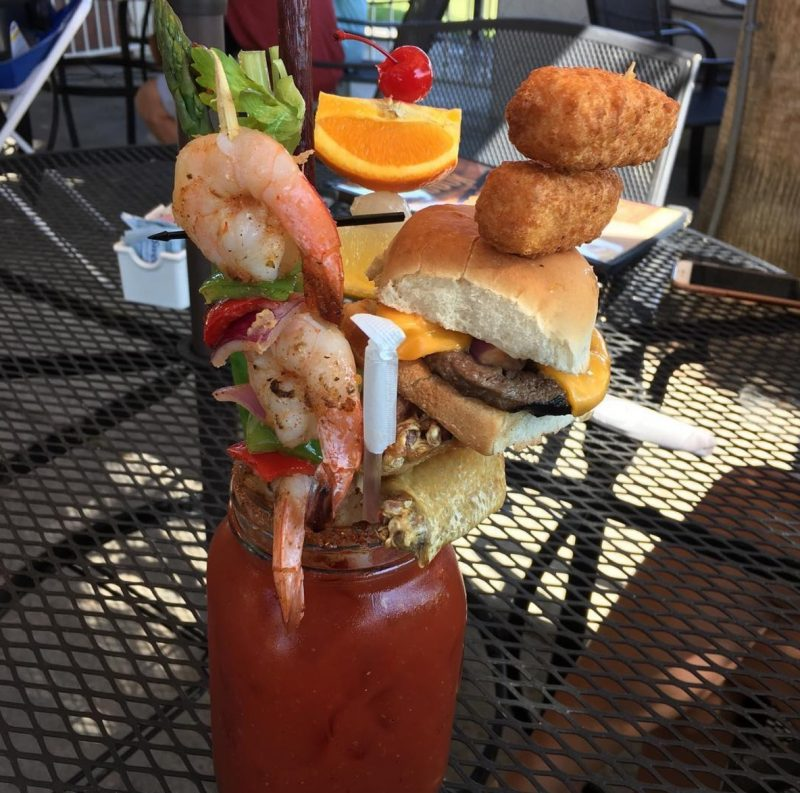 A Bloody Mary from Sloan's in Indio, California
