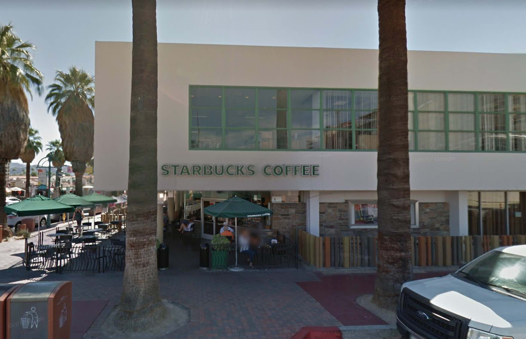 Can downtown palm springs survive two days without a starbucks cactus hugs Starbucks palm beach gardens