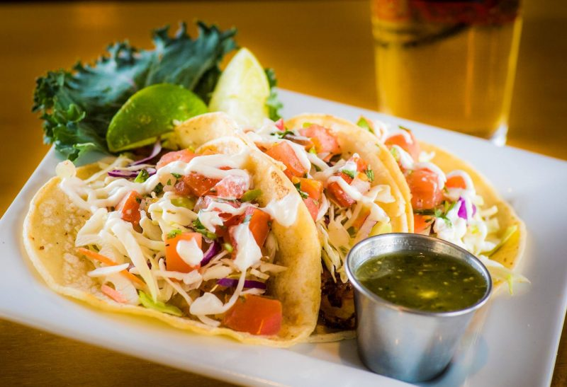 Tacos served during Happy Hour at Stuft Pizza