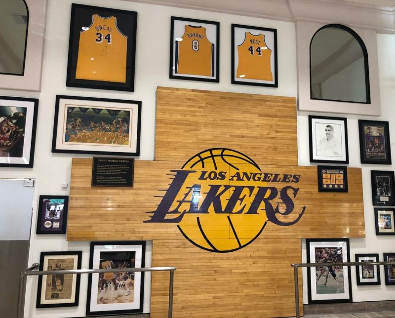 A Lakers display at Eddie World Yermo California
