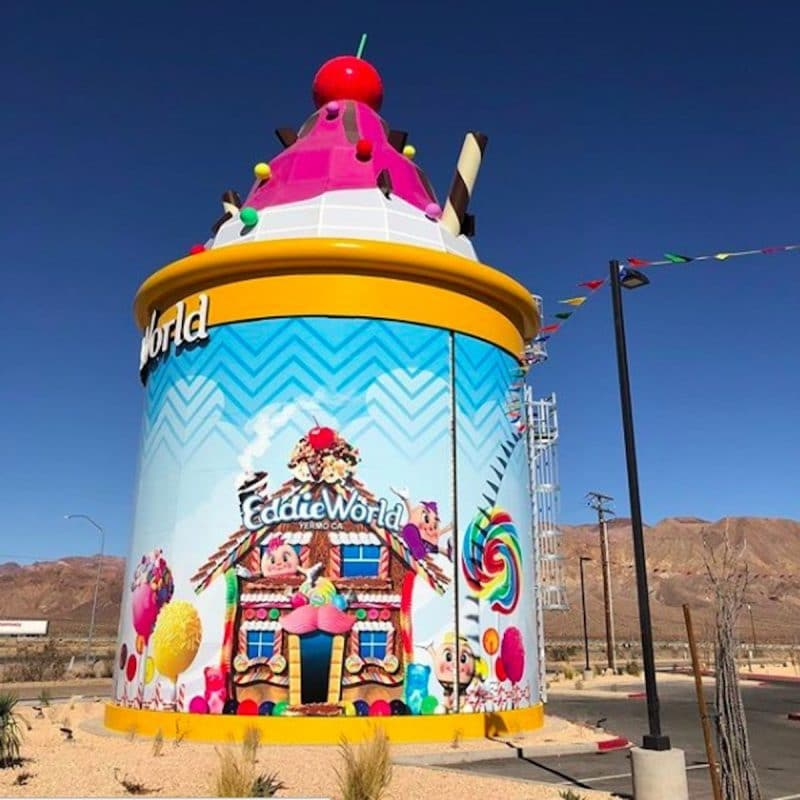 The outside of Eddie World in Yermo on the way to Las Vegas