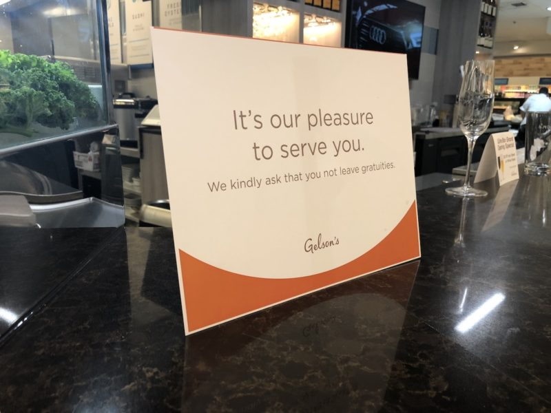 There's no tipping at the Rancho Mirage Gelson's bar