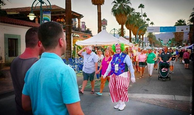 Harpo the Clown at Palm Springs VillageFest
