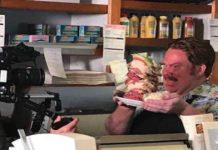 Man V Food filming at Manhattan in the Desert in Palm Springs
